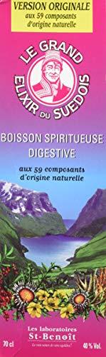 Saint benoit - Elixir du suedois 40° - 700 ml flacon - Véritable élixir du suedois recette originale