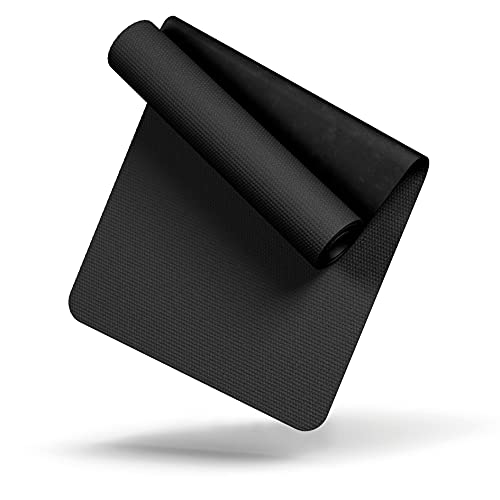 LILENO SPORTS Bodenschutzmatte (90x200 cm) - extra wiederstandsfähige Laufband Matte 8 mm Dicke - Fitness Unterlegmatte für Crosstrainer, Rollentrainer und andere Fitnessgeräte