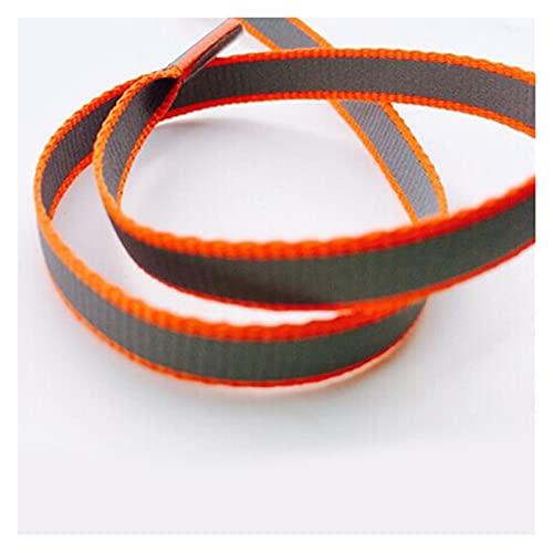 Bidema 1 par de 100 cm Corredor Plano Reflectante Pacientes de Zapatos Luminoso Luminoso Shoeles Shoeles Unisex para el Deporte Baloncesto Lienzo Zapatos (Color : Orange)