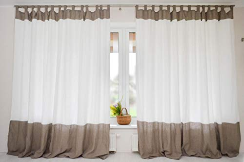 3hlinencolor Block Linen Curtain Available Short And Extra Long Living Dining Room Drapes Dailymail