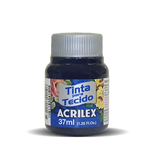 Acrilex Pintura Textil al Agua Azul Marino 37 ml Ref. 544