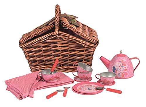 Egmont Toys Toys Games Pretend Play Kids Kitchen Tea Set for 4 with Wicker Picnic Basket