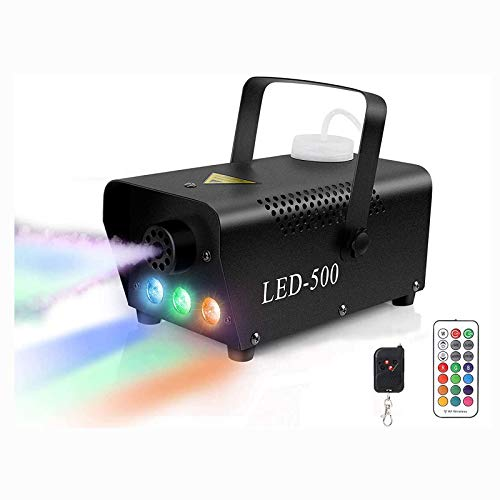 Fog Machine,Smoke Machine,500-Watt upstartech Portable Christmas Party Smoke Fog Machine with Wireless Remote Control for Wedding Theater Halloween Club DJ Effect (Style1) (Style2)