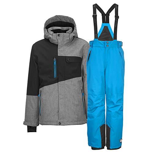 Killtec Kinder Skianzug Gr. 164 2-TLG. Skijacke + Skihose - grau/blau - Winddicht wasserdicht