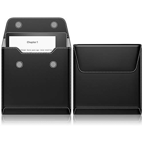 スリーブケース - ATiC Kindle Oasis (第10世代) 2019(Newモデル) 7インチ / Kindle Oasis 第9世代 2017 7インチ タブレット/電磁辞書用 収納ケース・バッグ PU皮革製+繊維 磁石式開口部 軽量コンパクト - フォルダー形 BLACK