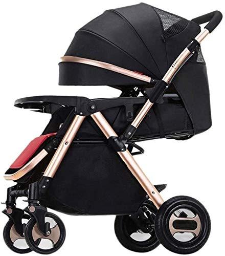 TQJ Cochecito de Bebe Ligero Cochecito de Cochecito, Cochecito de bebé Ligero Compacto, Cochecito de bebé reclinado para el Aeroplano Ultra Lightweight Baby Trolley (Color : #1)