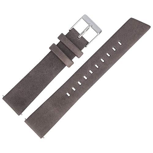Liebeskind Berlin Uhrenarmband 18mm Leder Grau Glatt - B_LT-0195-LM