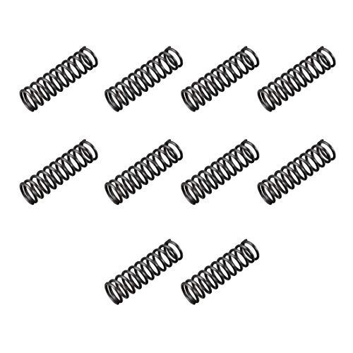 sourcingmap 10 Stück Druckfeder 10mm Außendurchmesser 1,2 mm Drahtdurchmesser 35 mm lange