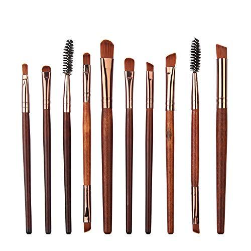 Pinceaux de Maquillage Set de 10 Pièces Premium Coloré Fondation Mélange Blush Yeux Visage Poudre Brosse Cosmétiques