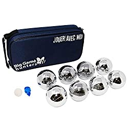 Luxury polished 8 Boule Set with Rust-Free protection for extra durability and superior quality Presented in a beautiful thick padded canvas carry case with shaped support for extra strength and padded handle for comfort Durable compartments inside t...