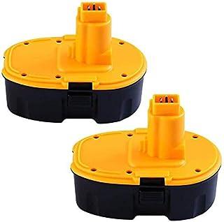 2 pack 18V 3.0Ah Ni-Mh vervanging voor Dewalt Accu DC9096 DE9039 DE9095 DE9096 DE9098 DW9096 DW9095 DW9098 Snoerloos elekt...