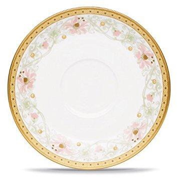 """Noritake Blooming Splendor Saucer, 6"""" in Green/Pink/White"""