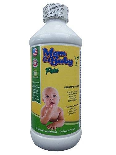 Prenatal Multi-Vitamin Wholefood Liquid Supplement - 800mcg Folate, Non-Constipating Iron - Certified Organic - Best for Pre-Conception, IVF, Pregnancy & Postnatal - Vegetarian Non-GMO Made in the USA