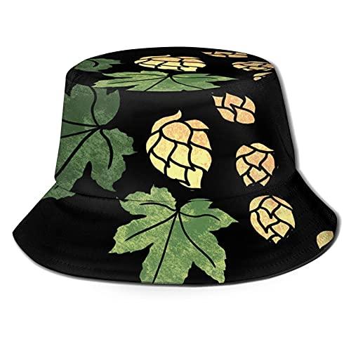 Neildmax Sombrero del Beer Hops Beach Fisherman Hats Life is Beer and Drink Sombrero para el Sol Gorra de Pescador de Viaje para Mujeres y Hombres