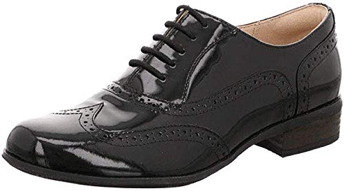 Clarks Hamble Oak, Scarpe stringate Donna, Nero (Black Pat), 38 EU