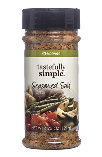 Tastefully Simple Seasoned Salt - Perfect for Beef, Chicken, Fish, Pork, Vegetables and Everything in Between - Kosher - 6.75 oz (1-Pack) (Guy Fieri Best Cioppino)