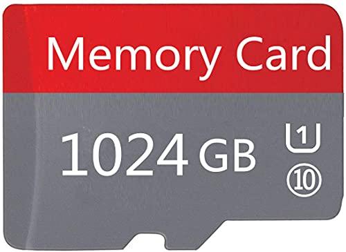 High-Speed 1024 GB Micro-SD-Karte für Android-Smartphones, Tablets Klasse 10 SDXC-Speicherkarte mit Adapter (1024 GB-GH)