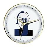 Boblen Reloj de Cuarzo de Silencio for la decoración de la Oficina en el hogar,Reloj de Pared de Arte Azul de Klein,Reloj de Dormitorio no ticture con batería Creativa