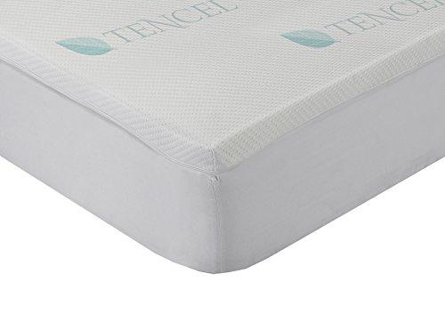 Classic Blanc - Surmatelas en mousse à mémoire de forme viscoélastique Lyocell, confort plus 4 cm. 140 x 190 cm. Lit 140. Toutes les mesures