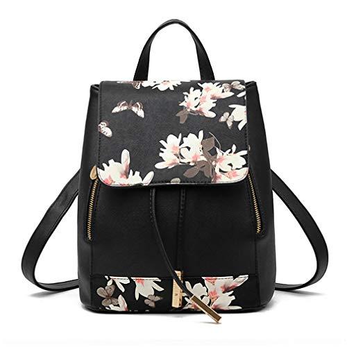 Pahajim Rucksack Handtaschen Damen Daypack Schultertasche Schulrucksack Backpack PU Waterproof Anti Diebstahl Tasche für Schule Reise Arbeit
