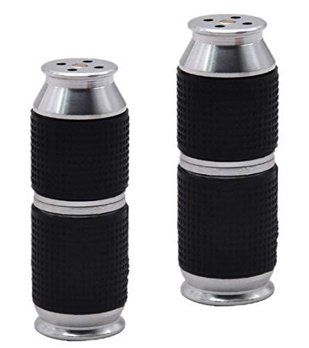 Timess Sahnespender Düsen 2 Stück Sahnebereiter Aluminiumlegierung Klein und tragbar Ledertasche Frostschutzhand Cream Whipper Dispenser (Silber)