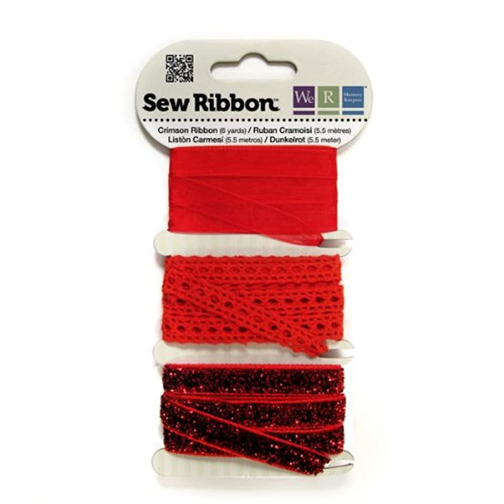 We R Memory Keepers Sew Ribbon, Crimson