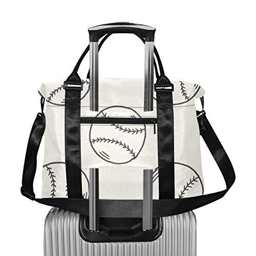 Cute Cartoon Motion Baseball Doodle Girls Duffle Bag Bolsas de Viaje extragrandes para Equipaje Viaje Ligero para Mujer Bolsa de Fin de Semana Plegable para Hombres Mujeres