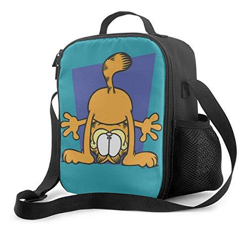 shenguang Bolsa de almuerzo con aislamiento de Garfield de dibujos animados, reutilizable, para picnic, para almuerzo, viaje, trabajo, playa, navegación, lonchera portátil para mujeres/hom