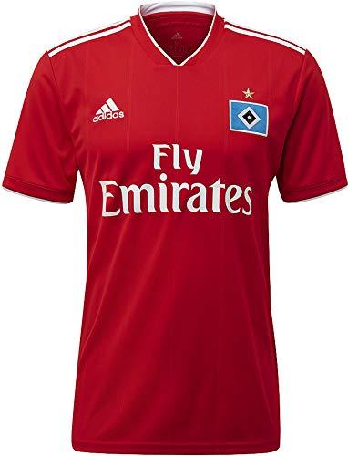 adidas Herren Hamburger SV Away Kurzarm Trikot, Scarlet/White, M