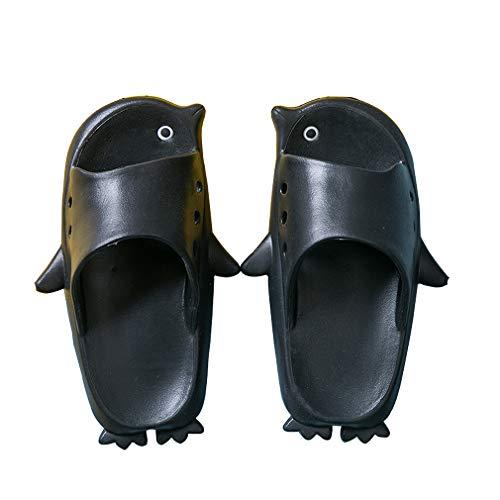 KVbabby Kinder Dusch-& Badeschuhe Jungen Mädchen Ultra-weich Pinguin Hausschuhe Badelatschen Anti-Rutsch Slipper 23/24 EU = Hersteller 24/25