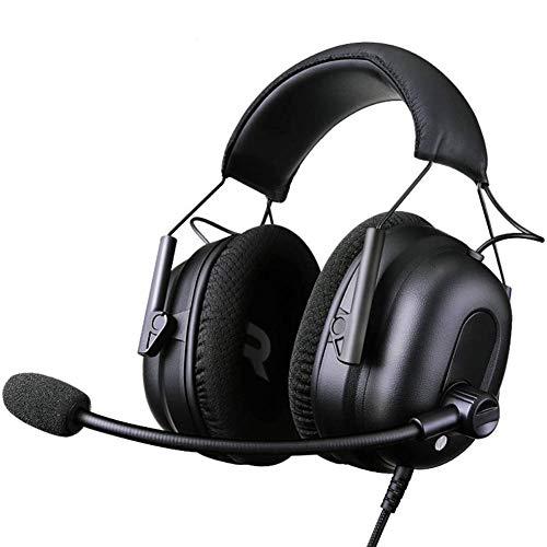 WAJI Headset, computer telefoon esports spel gewijd met headset ruisonderdrukkende hoofdtelefoon, ingebouwde microfoon bekabelde en draadloze modus, geschikt voor mobiele telefoons, TV, PC en reizen