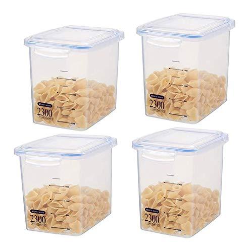 Botes cristal cocina Los contenedores sellados de cereales de granos alimenticios de...