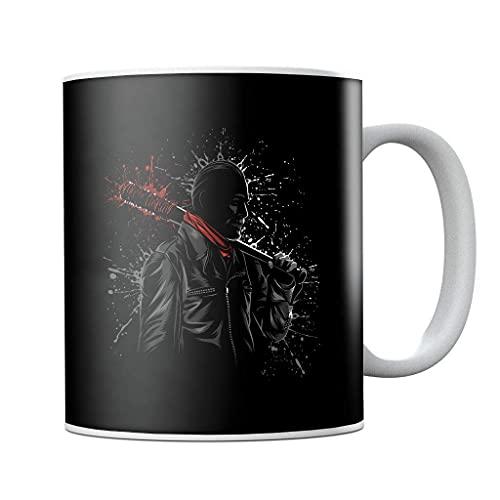 Walking Dead Negan Lucille Psychopath Splatter - Taza de café de cerámica, diseño con texto en inglés 'Walking Dead Negan'