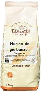 Bauck Hoff - Harina de Garbanzos, Sin Gluten, pack de 2 x 500 gr