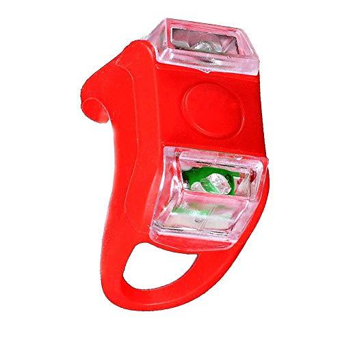 Nicejoy Llevó la luz para Bicicleta Brillante Montaje de luz LED en Fog Manillar Tija luz de la Rana con el botón Rojo Decorativo del hogar