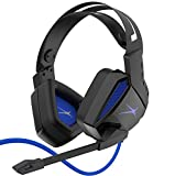 Premier Accessory Group Gaming Headset for PS4 Surround Sound Altec Lansing Game Headphones Noise Cancelling Mic AL4000, Playstation Blue (AMZ-ALHP2BL)