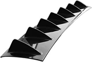 Universal Car Hecksto/ßstange Lippendiffusor 7 Fin Shark Fin Style Hecksto/ßstange Spoiler Lippensplitter Car-Styling ABS Kunststoff Schwarz