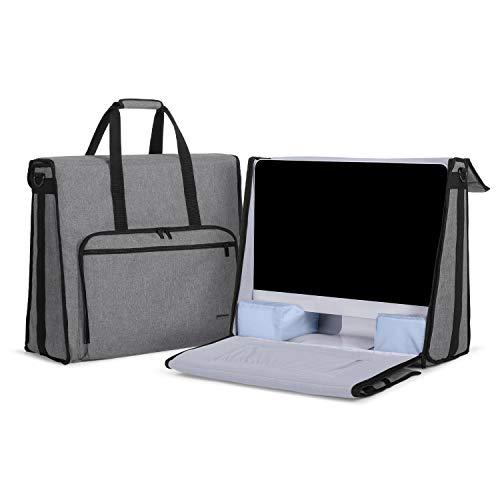 Damero Tragetasche Kompatibel mit Apple iMac 21,5 Zoll, Tragetasche Kompatibel mit Apple iMac 21,5 Zoll und anderem Zubehör, Grau