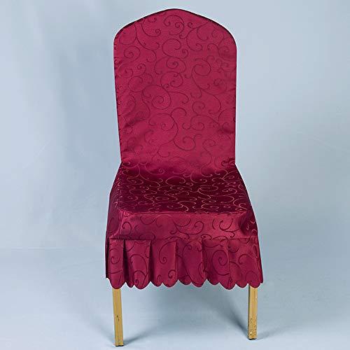 Xiaobyyao Banquete Hotel Pieza Mancha Tela (se Puede Personalizar tamaño) Doble Gancho Flor Vino Rojo Ancho,Fundas para sillas Pack de Fundas sillas Comedor Fundas elásticas, Cubiertas