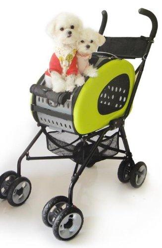 Innopet Haustier-Buggy, IPS-020/grün, Hunde-Tragetasche, Trolley, Trailer, 5-in-1 Haustier-Buggy. Faltbarer Haustier-Buggy für Hunde und Katzen.