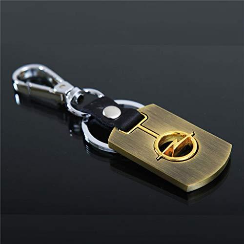 LBPLWY Auto schlüsselbund Schlüsselanhänger,Autos Styling Schlüsselanhänger Metall Emblem Logo Schlüsselanhänger Zubehör Für Opel Astra HJG Vectra BC coras CD Mokka Zafira Meriva