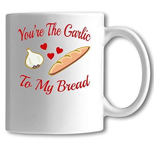 Iprints Je bent Knoflook Aan Mijn Brood Koppels Grafische Witte Keramische Thee Koffiemok