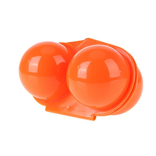 UEB Portauova Portatile 2 Griglie Portauova in Plastica Contenitore Uova per Picnic all'aperto Campeggio Campeggio (Arancione)