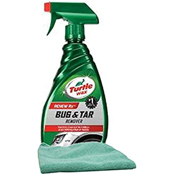 Turtle Wax Bug & Tar Remover (16 oz.) Bundle with Microfiber Cloth (2 Items)