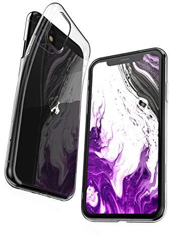 COVERbasics Cover Compatibile con iPhone 11 (AIRGEL 0.3mm) Custodia Trasparente in Silicone TPU Sottile con Bordo Protezione Fotocamera, Anti Ingiallimento ed Anti Graffio