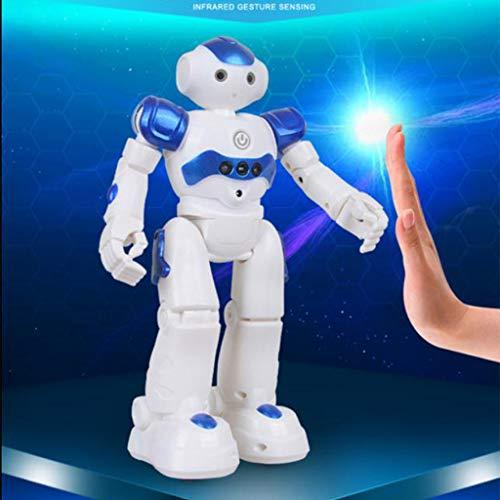 003 Robot Juguete, Programable Juguete Educativos, Radiocontrol y Gesto Control Robot, Múltiples Funciones para Cantar Bailar y Aprender, Imita la Voz, Juguete Ideal para Niños 2021