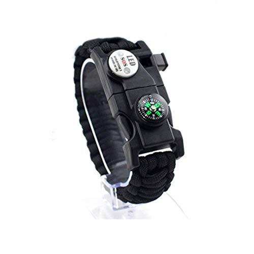 ZAJIWF Wild Survival Bracelet-29-In-1 Hand Weben - Bestes Vatertagsgeschenk - Survival Gear Kit mit eingebettetem Kompass, Feuerstarter, Pfeife,G
