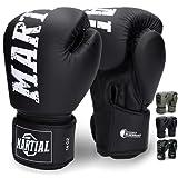 Martial Guantes de Boxeo Hechos del Mejor Material para Larga Durabilidad – Guantes de...