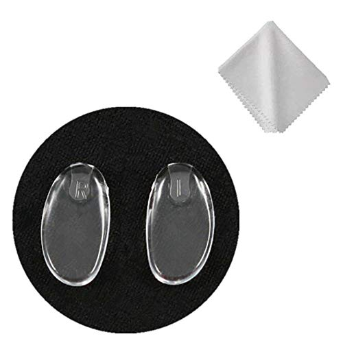 Eyeglass Nose Pads Replacement for Silhouette Frameless Glasses Eye Glasses and Eyewear Frames,Soft Silicone Plug in Eye Glasses Parts Push in Nose Piece,Clear Repair Kit