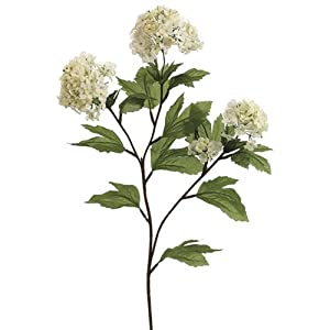27″ Silk Snowball Flower Spray -Cream/White (pack of 12)